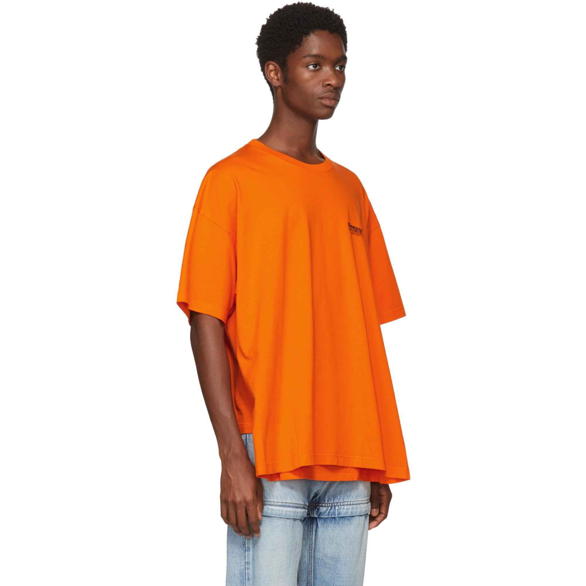 1baea74dcf44 Balenciaga Orange Speedhunter Double Hem T-shirt in Orange for Men ...