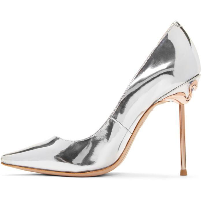 9a6e5e3880d Sophia Webster Gold Coco Flamingo Heels