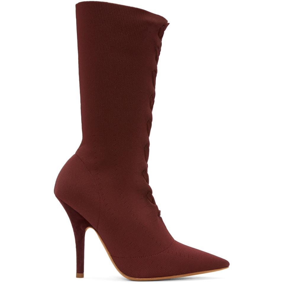Buy Cheap Fake Discounts Cheap Online Yeezy Burgundy Knit Sock Boots Deals Cheap Online Cheap Sale Footlocker Pictures How Much Cheap Price dmRC8lygTo