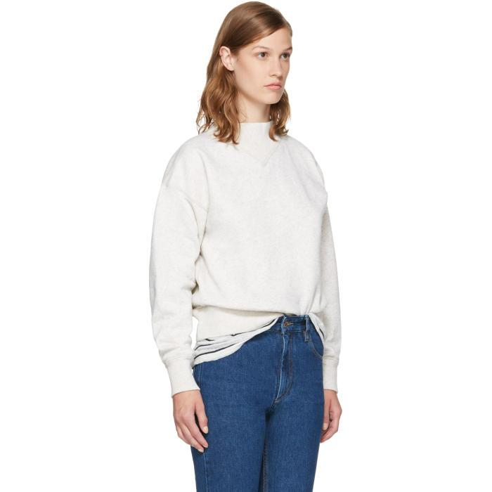 With Paypal Online With Mastercard For Sale Ecru Moby Sweatshirt Isabel Marant Free Shipping Best Store To Get Buy Cheap 2018 Sale Discount RK224