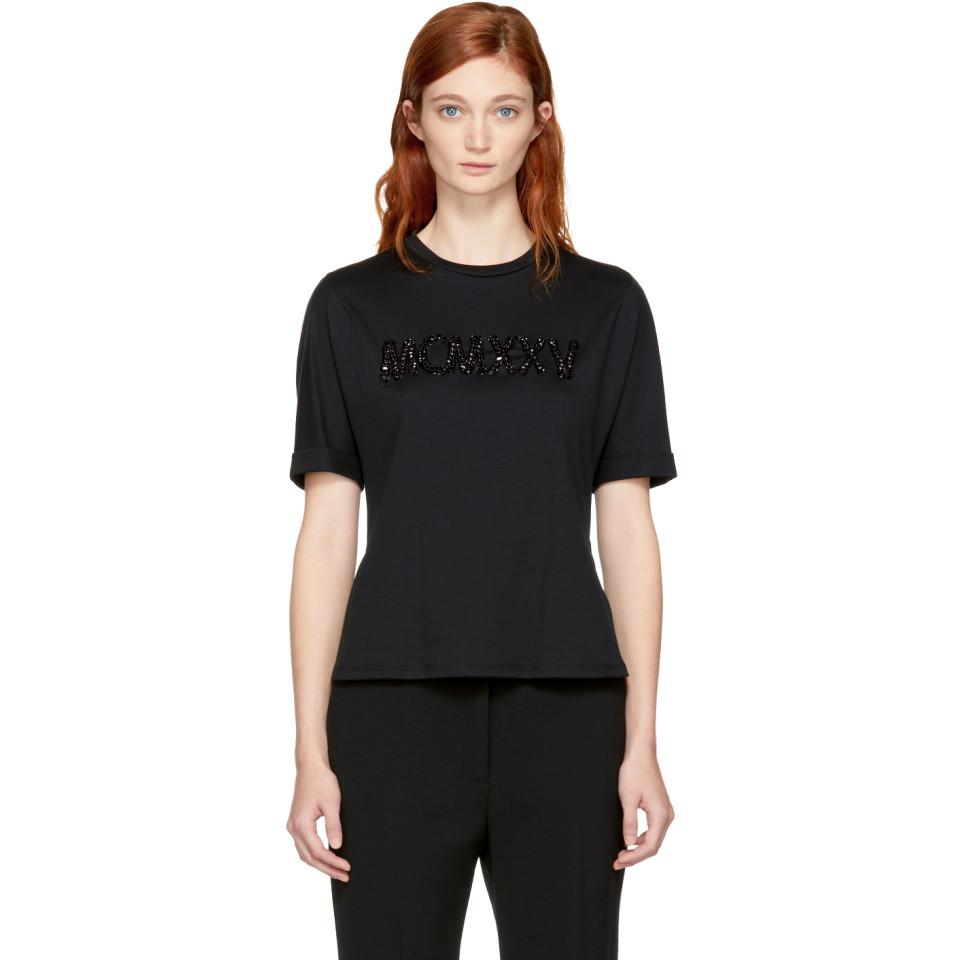 Discount Marketable Cheap Sale Affordable Black Embellished MCMXXV T-Shirt Fendi Best Prices Cheap Price Outlet Professional Cheap Sale 100% Original 0nEE34EDp