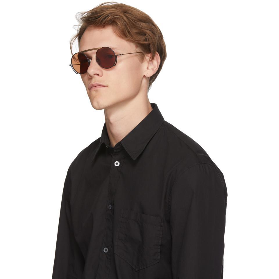Thom Browne Navy Tb-111 Sunglasses for Men