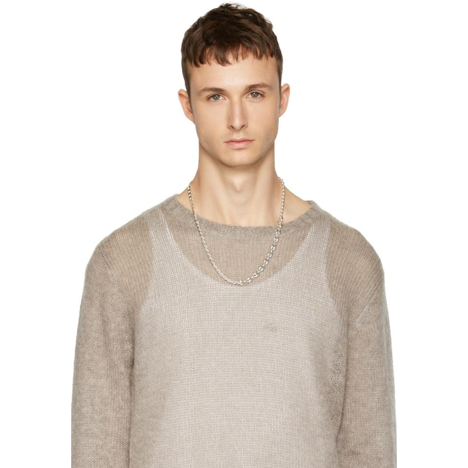 Www. Will Shott Silver 4 Link Solid Chain Necklace in Metallic for Men