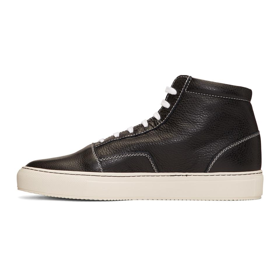 Common Projects Leather Black Skate Mid