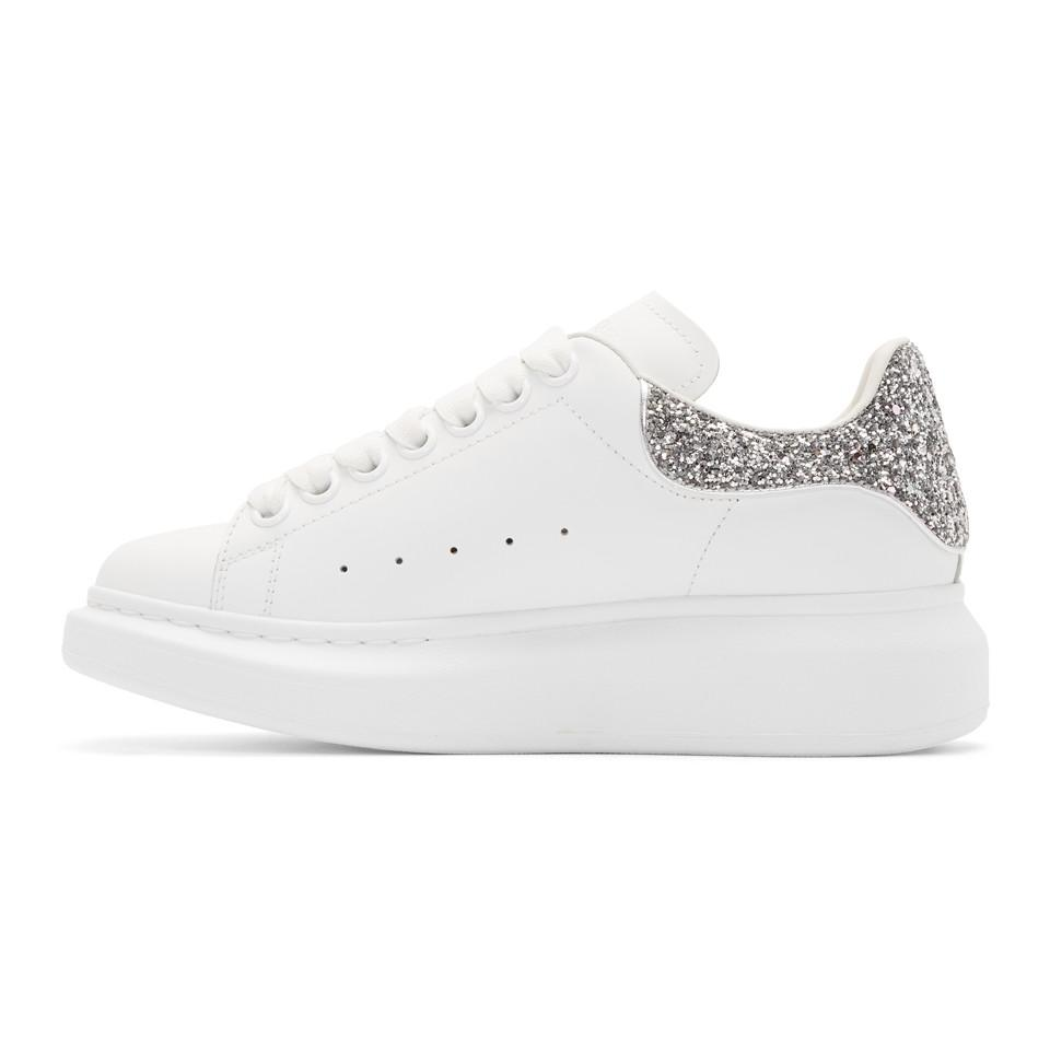 Silver Glitter Oversized Sneakers