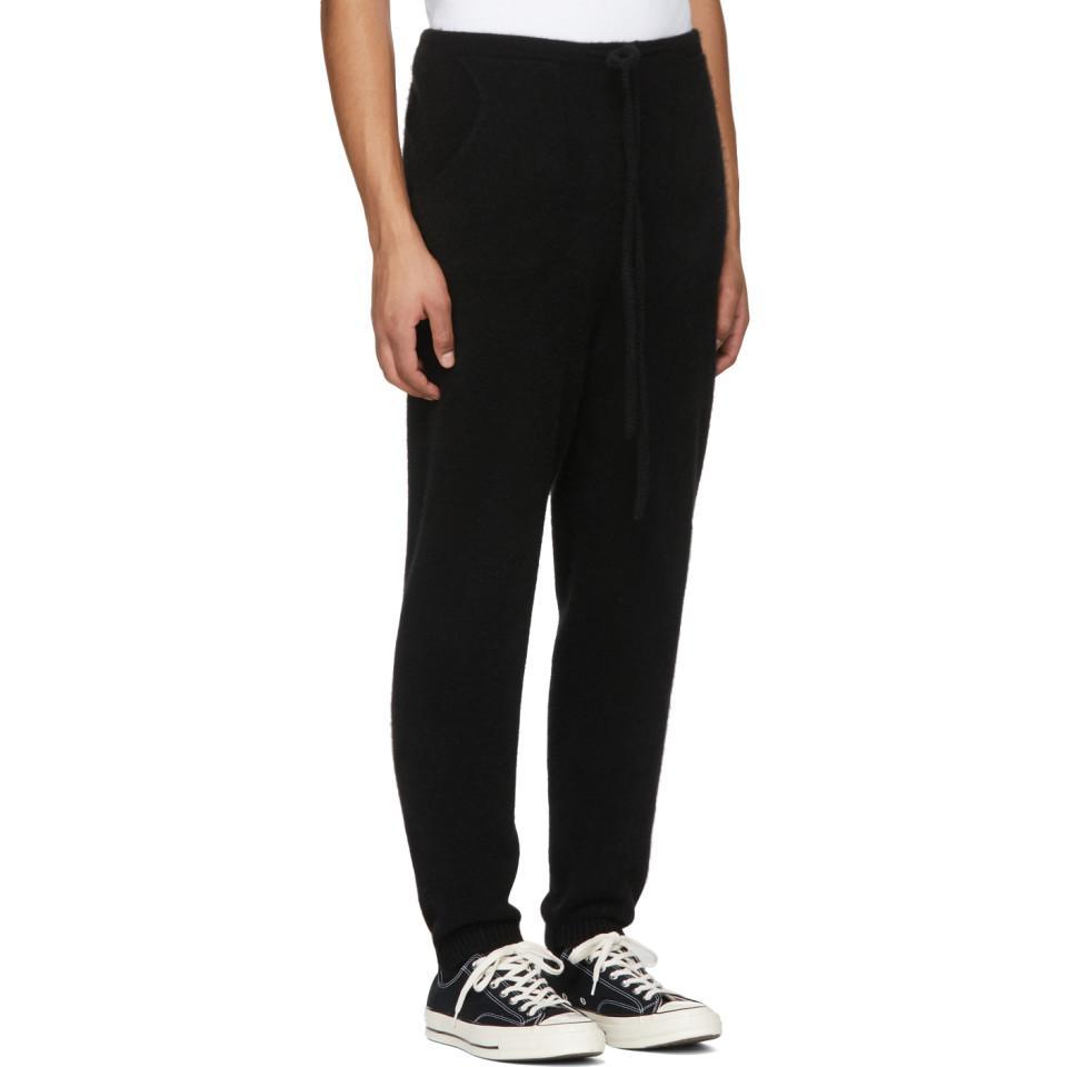 Black Heavy Cashmere Lounge Pants The Elder Statesman Outlet Store Online z1XLT8fO