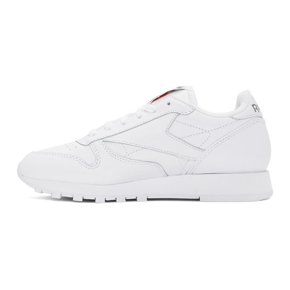 Reebok Leather White Club Archive Sneakers