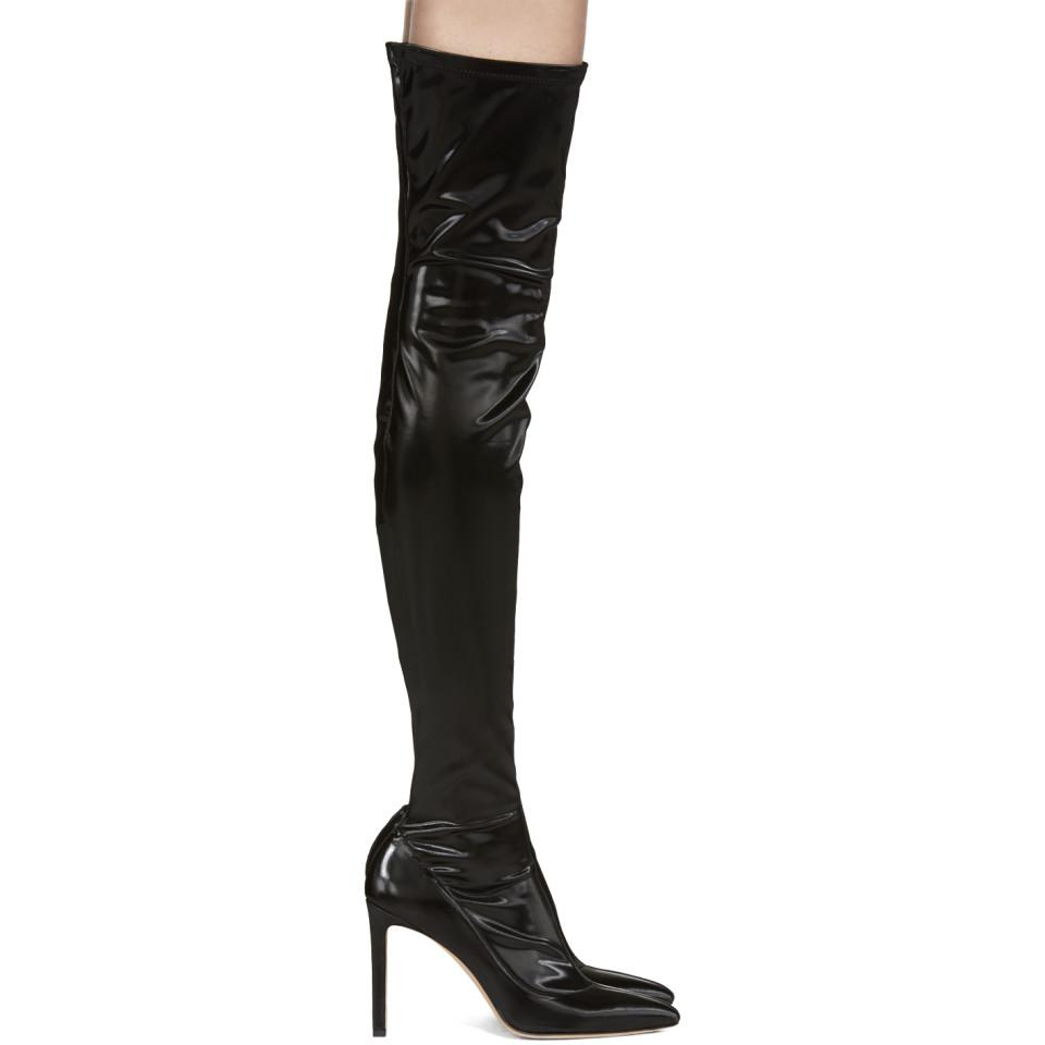 Jimmy Choo Leather Black Lorraine Over-the-knee Boots