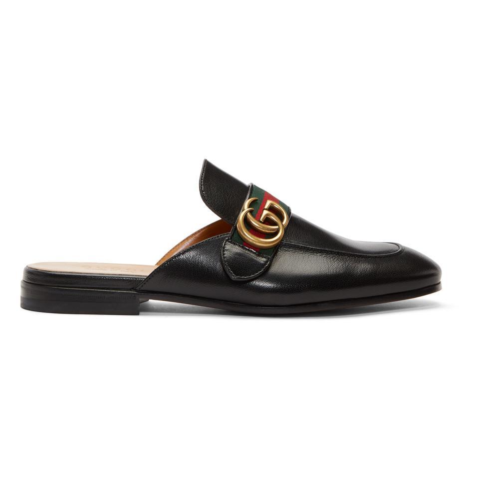 Hender Scheme Black Lion & Pierced Heart Princetown Slip-On Loafers 9GExxXmMW2
