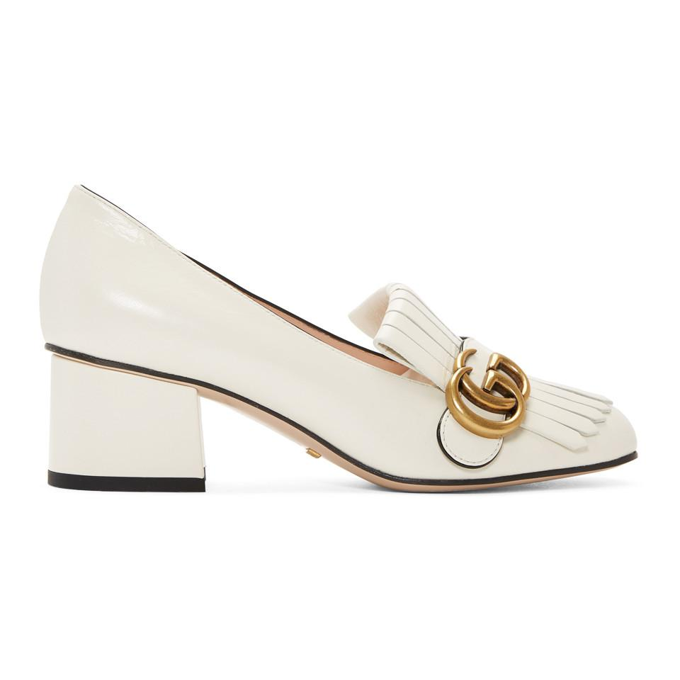 Gucci Marmont Fringed Leather Pumps in