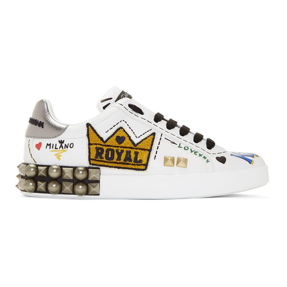 Of Blanches Coloris Gabbana Dolceamp; Pour En Kings Love Homme Baskets c4Rq3AjSL5