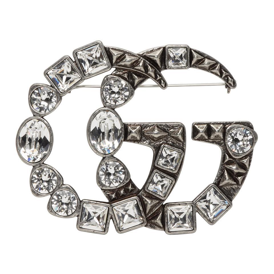 1e907bdc487 Gucci. Women s Silver Marmont Brooch