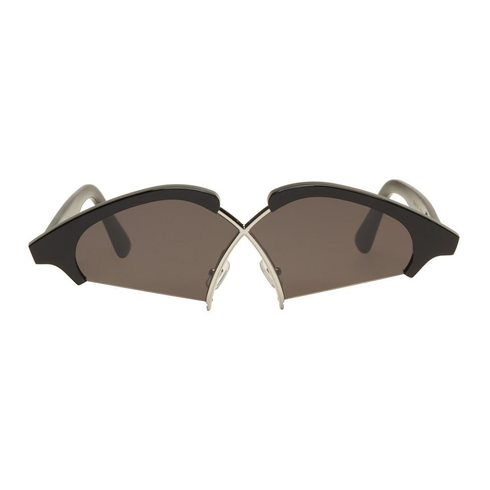 e6f450397a4 Lyst - Gentle Monster Black Hood By Air Edition Nunty Sunglasses in ...