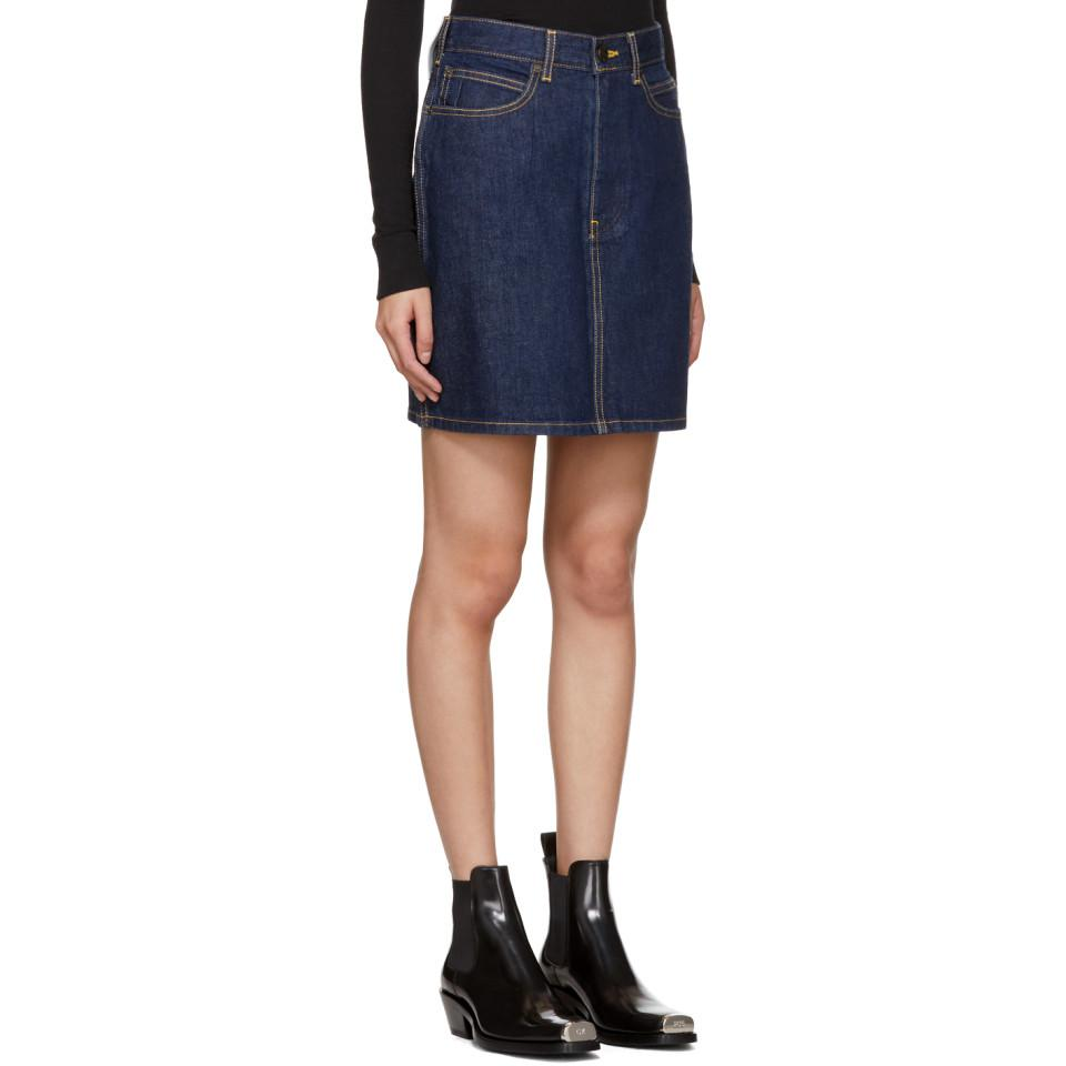 Blue Denim Miniskirt CALVIN KLEIN 205W39NYC Countdown Package For Sale Best Store To Get Fast Express Discount Codes Really Cheap lmJglio0B