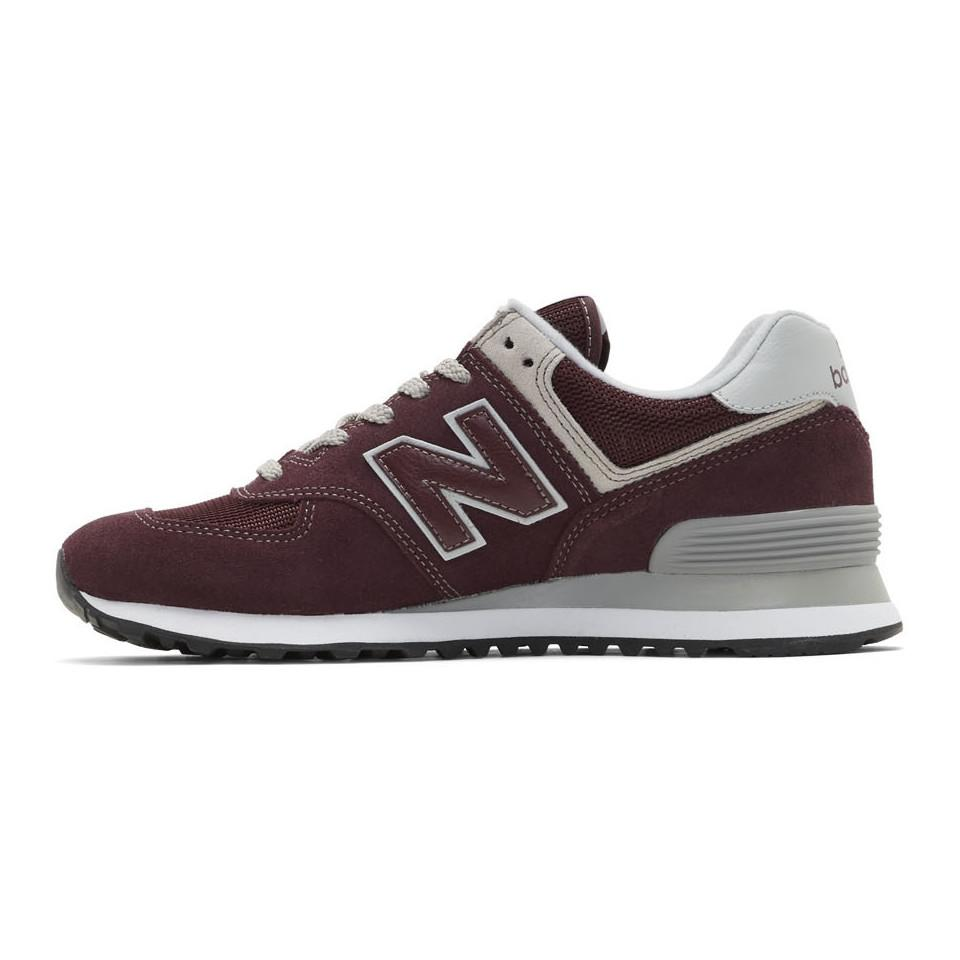 New Balance Suede Burgundy 574 Core Sneakers for Men - Lyst