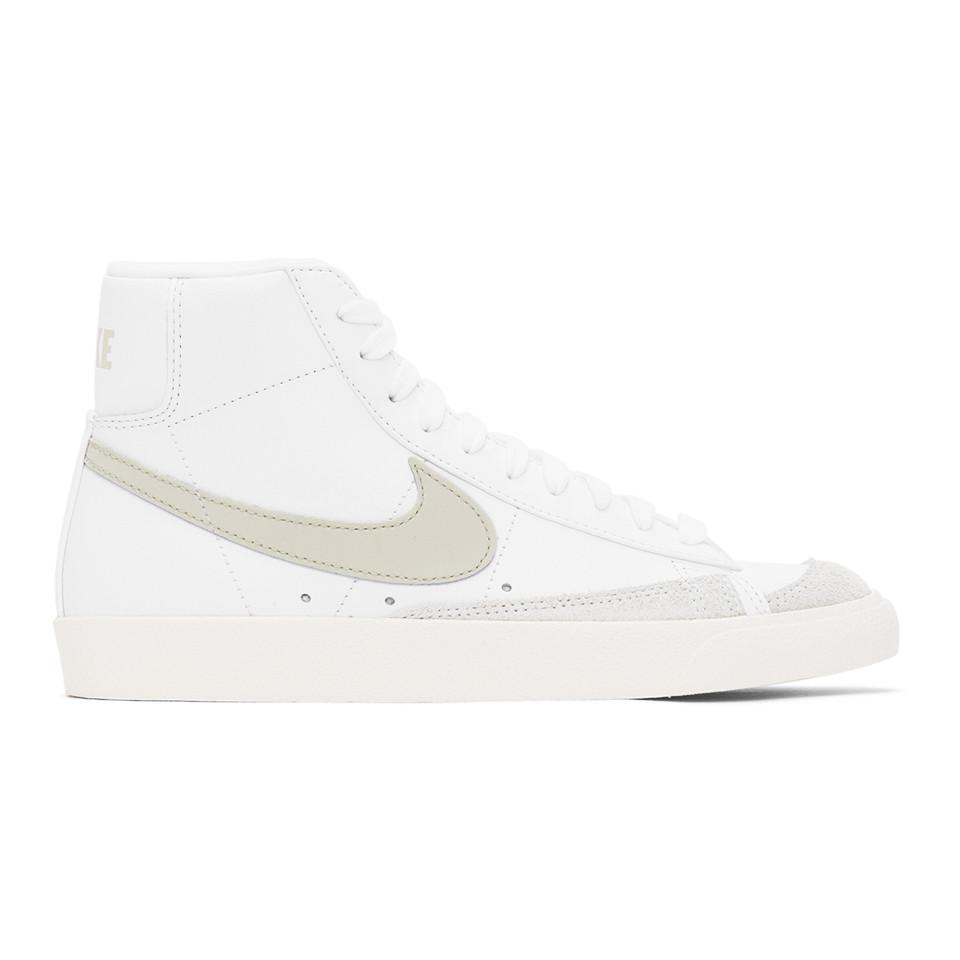 Nike Leather White And Beige Blazer Mid 77 Vintage Sneakers for ...