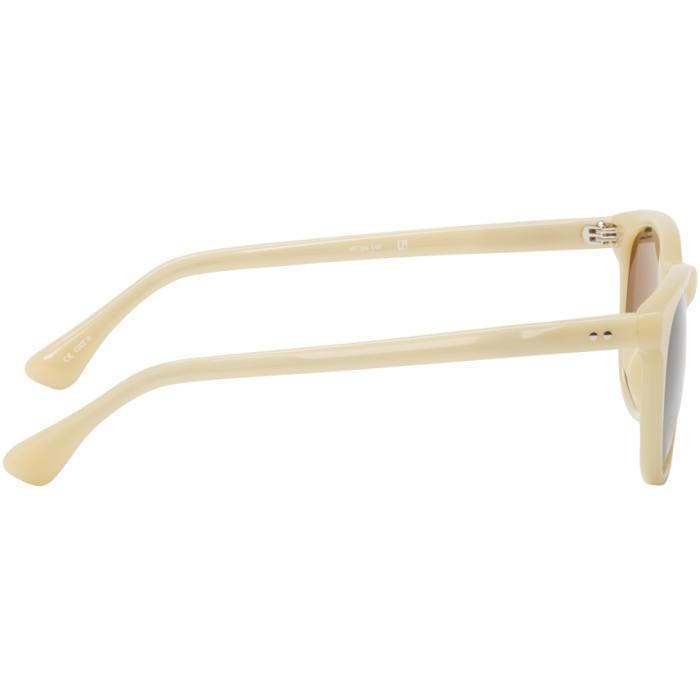 Dries Van Noten Ecru Acetate Sunglasses in Natural for Men