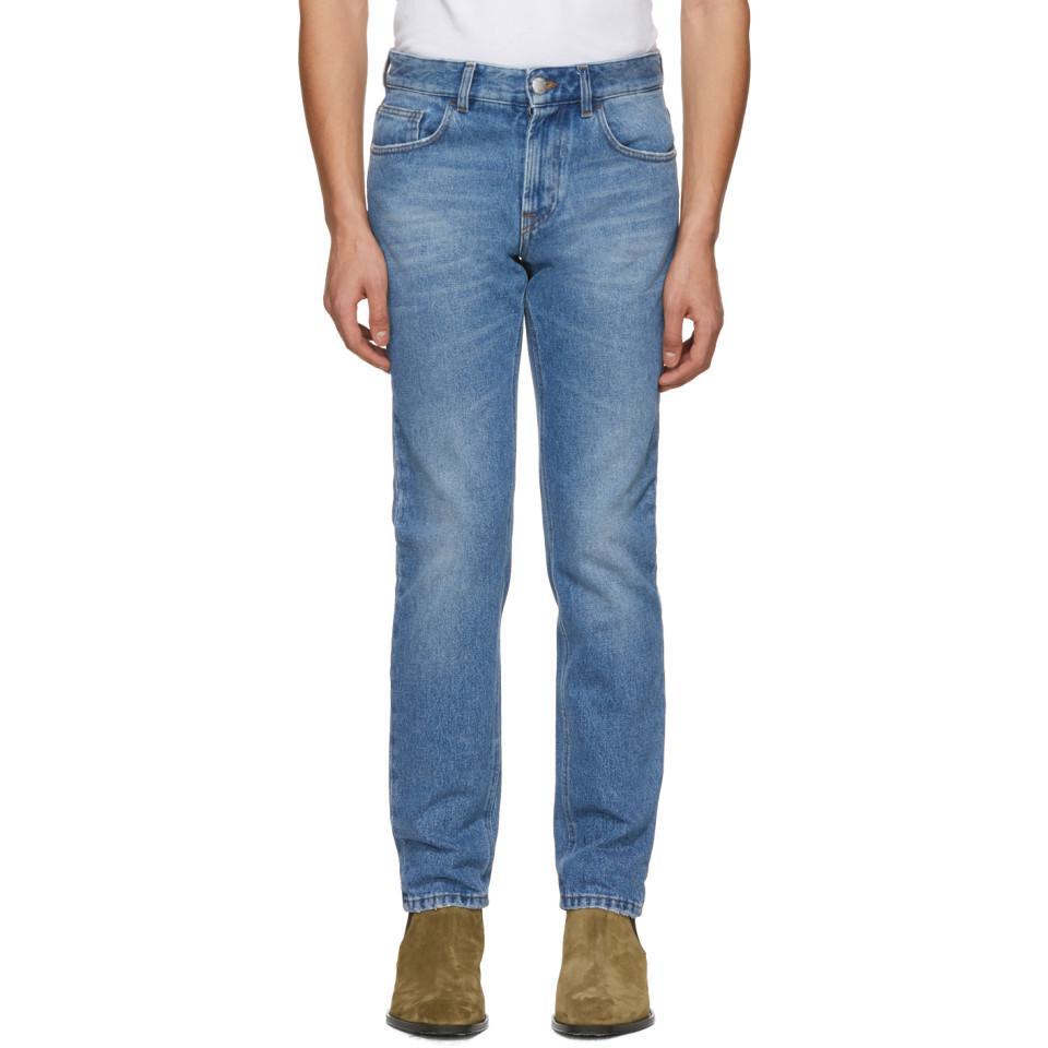 ostaa paras valtava valikoima puoleen hintaan Blue Embroidered More Please Jeans
