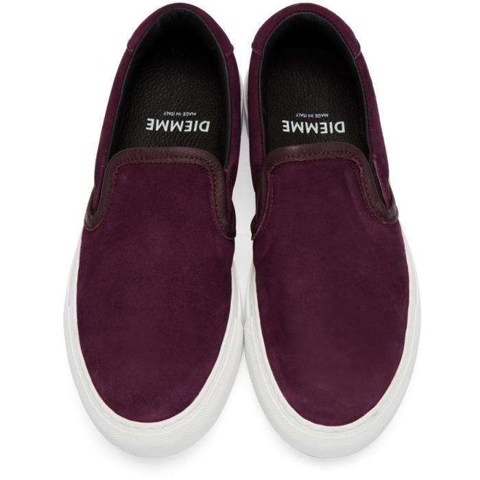 Purple Suede Garda Slip-On Sneakers Diemme m9HFtwoLLL