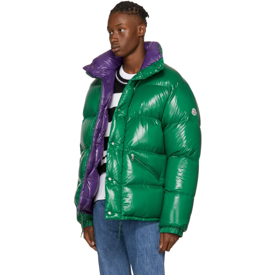Moncler Synthetic Green Down Dejan Jacket for Men