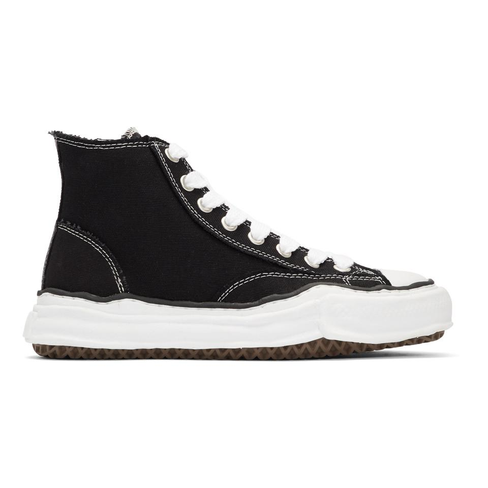 9e38db1afe5 Lyst - Miharayasuhiro Black Original Sole Canvas Hi-cut Sneakers in ...