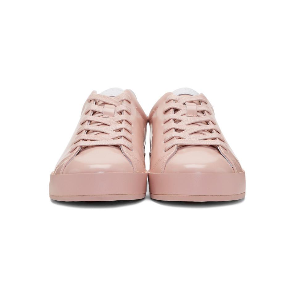 Bone Leather Pink Rb1 Low Sneakers - Lyst