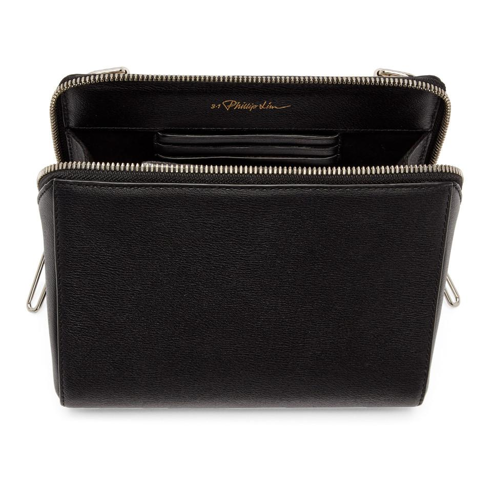 3.1 Phillip Lim Leather Black Ray Triangle Crossbody Bag