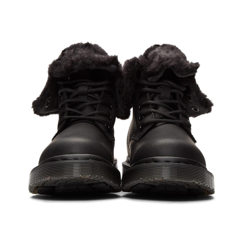 0707e6de6ff Dr. Martens - Black Snowplow 1460 Kolbert Boots - Lyst. View fullscreen