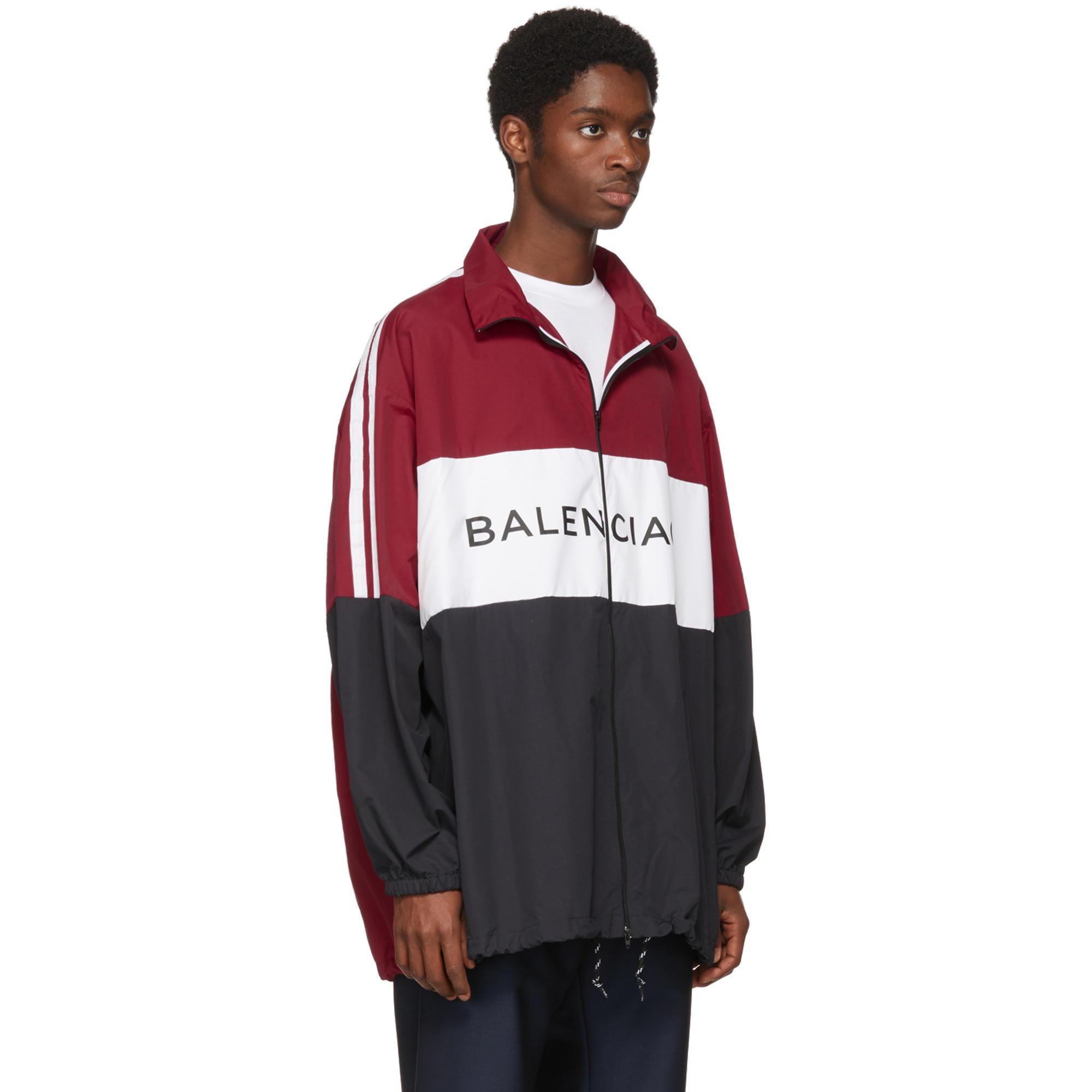 tout neuf 888f7 ff37c Blouson de survêtement à logo noir et rouge Balenciaga pour homme en  coloris Black