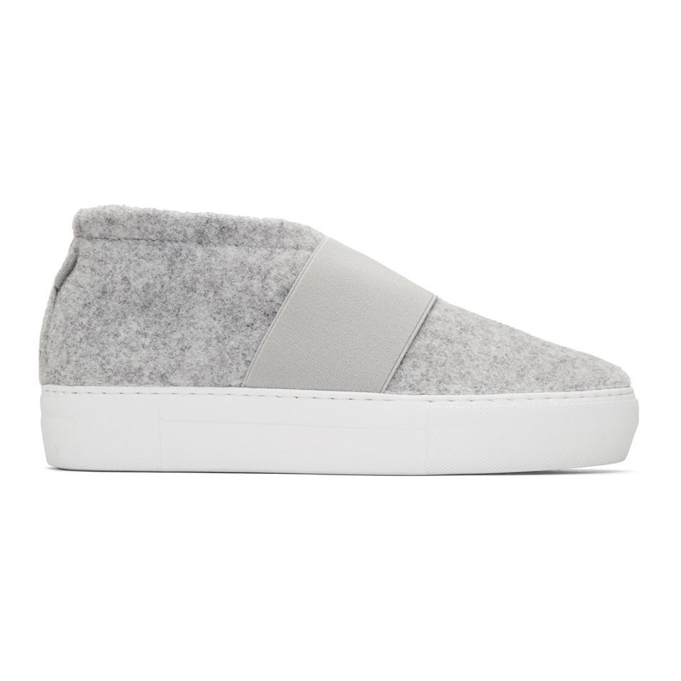 Diemme Grey Felt Cassola Mid Sneakers b5OpQbZ