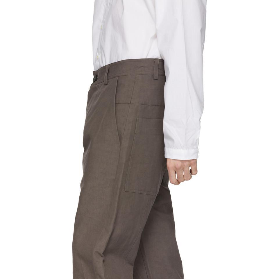 Isabel Benenato Cotton Brown Five-pocket Trousers for Men
