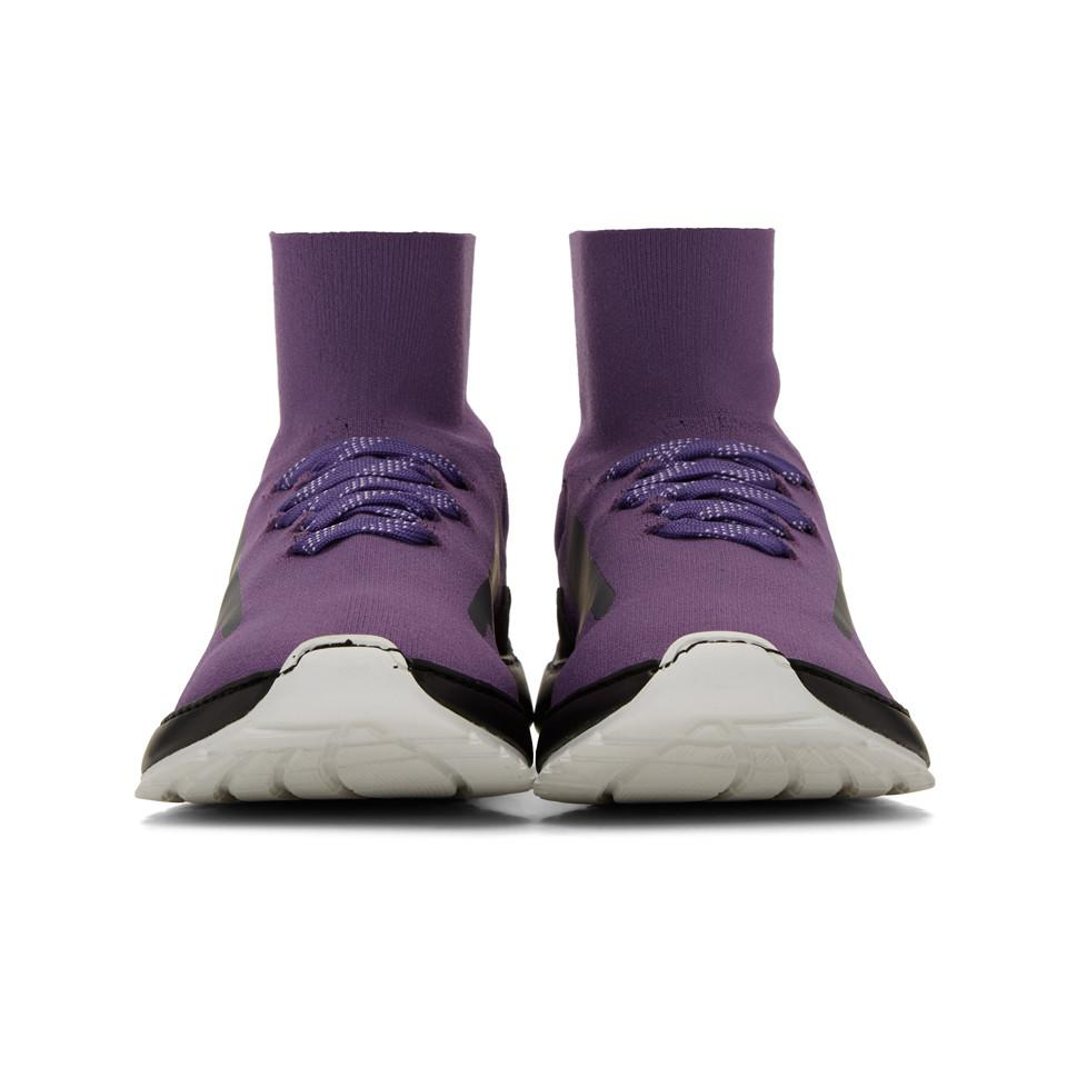 Discount 2018 Cheap Sale Prices Purple Mid Knit Arch Runner Sneakers Filling Pieces RJajgV