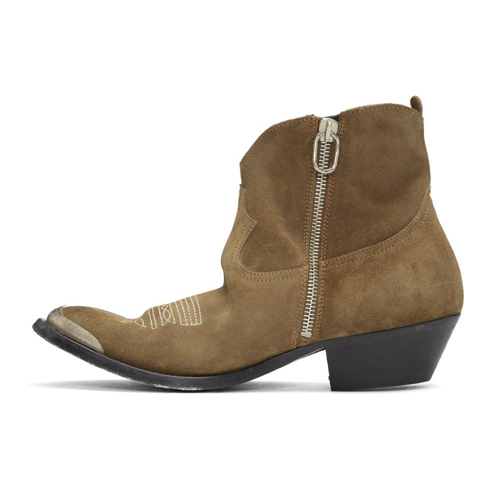 Golden Goose Deluxe Brand Brown Suede Young Boots
