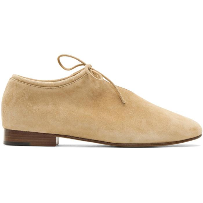 Martiniano Tan Suede Bootie Flats F8Ws85JQV