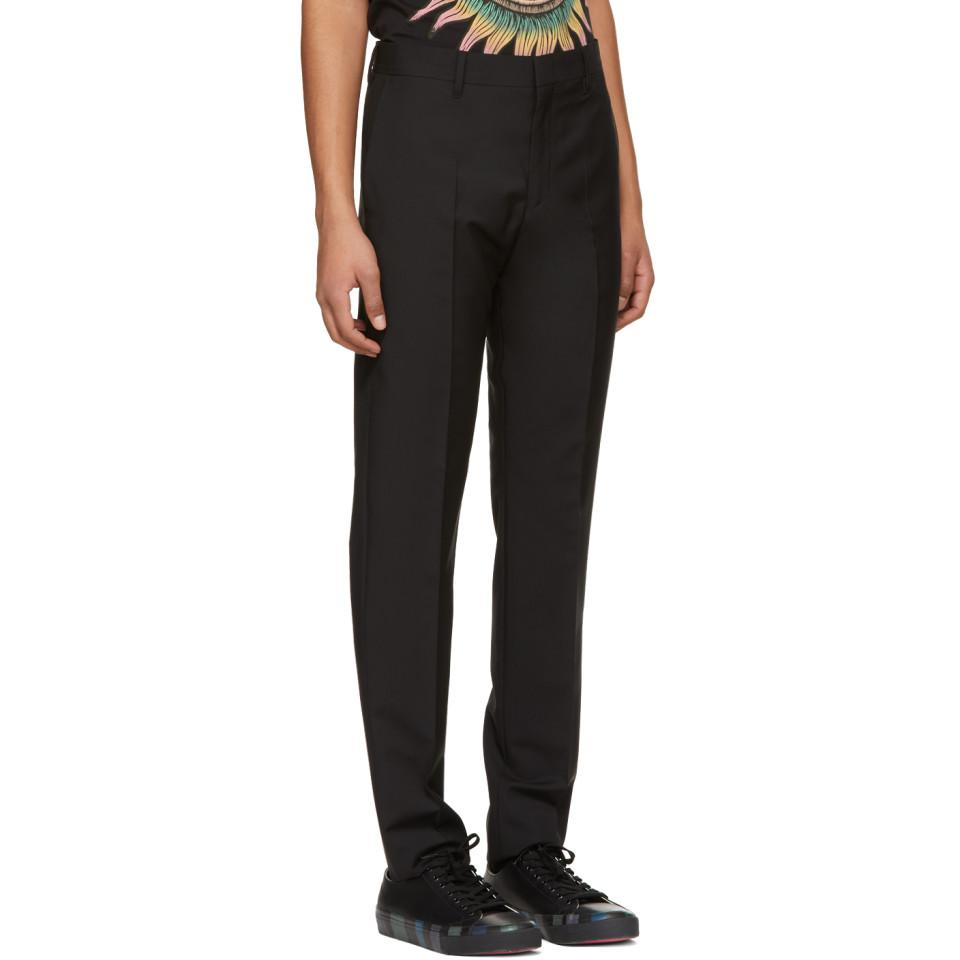 Paul Smith Wool Black Tailored Trousers for Men
