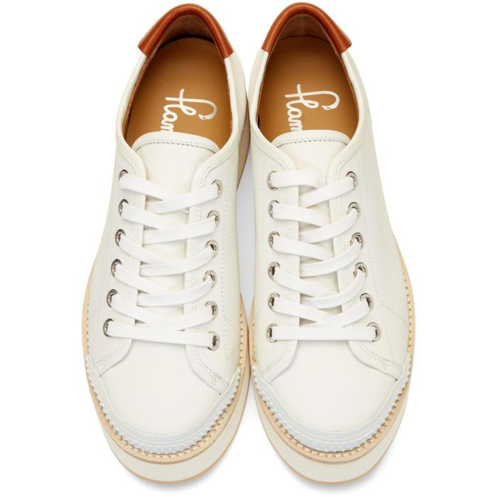 Flamingos Leather White Tatum Sneakers