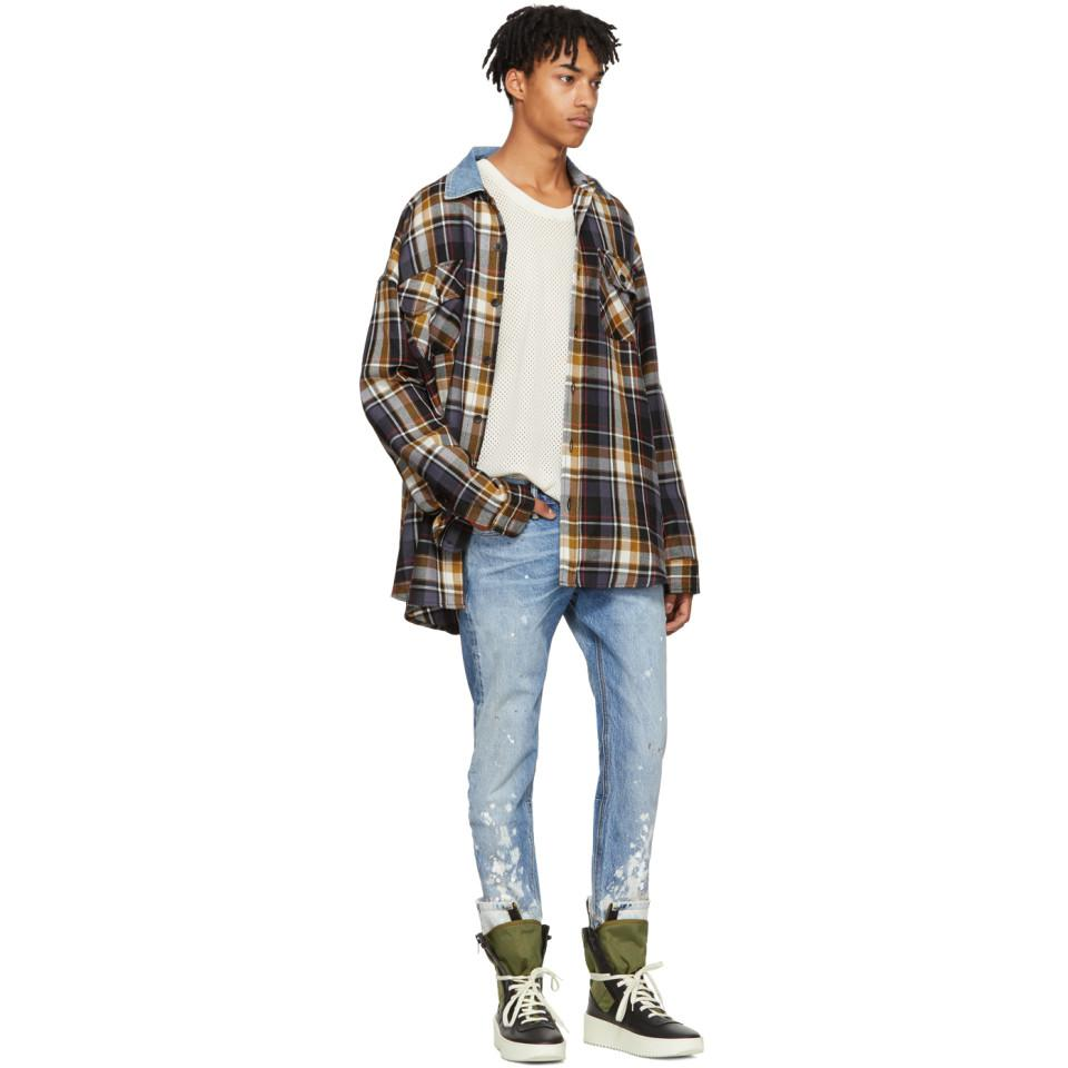 Fear Of God Indigo Selvedge Denim Painters Jeans in Blue for Men