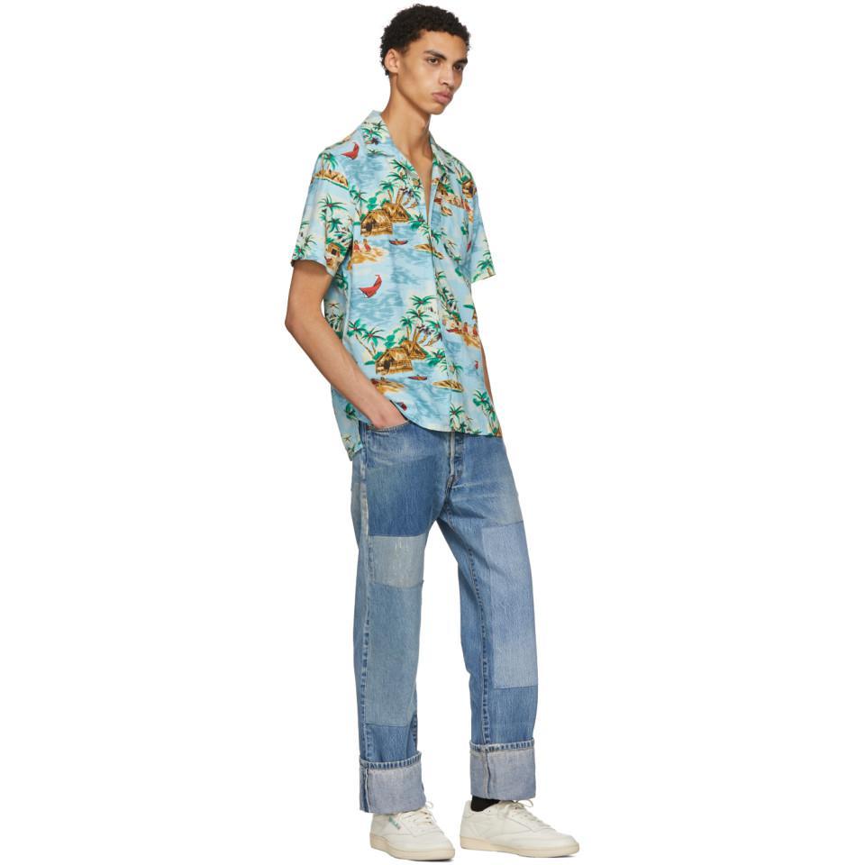 33a88fec Levi's Blue Pelican Cameo Hawaiian Shirt in Blue for Men - Lyst