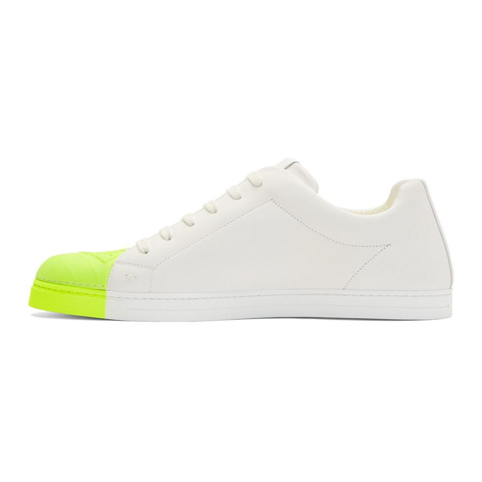 Fendi White And Green Leather Forever