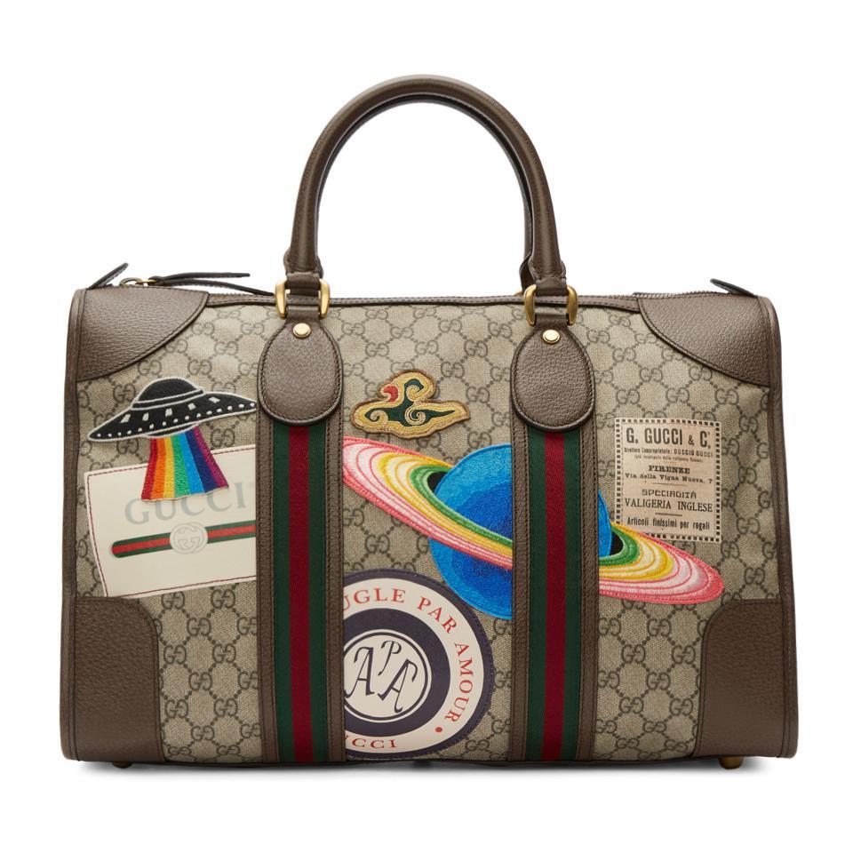 Lyst - Cabas brun GG Supreme Courrier Gucci pour homme en coloris Marron 1ffbcf7149b