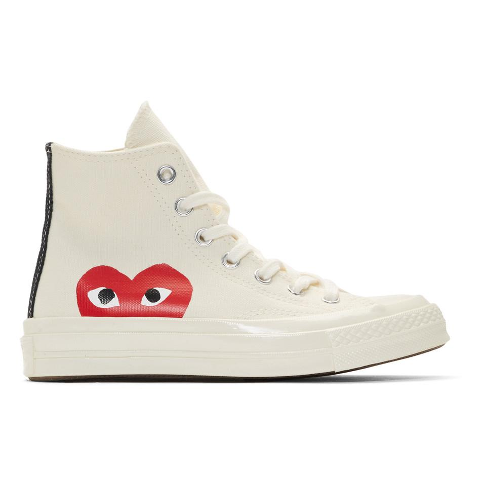 Off-white Converse Edition Half Heart Chuck 70 High Sneakers