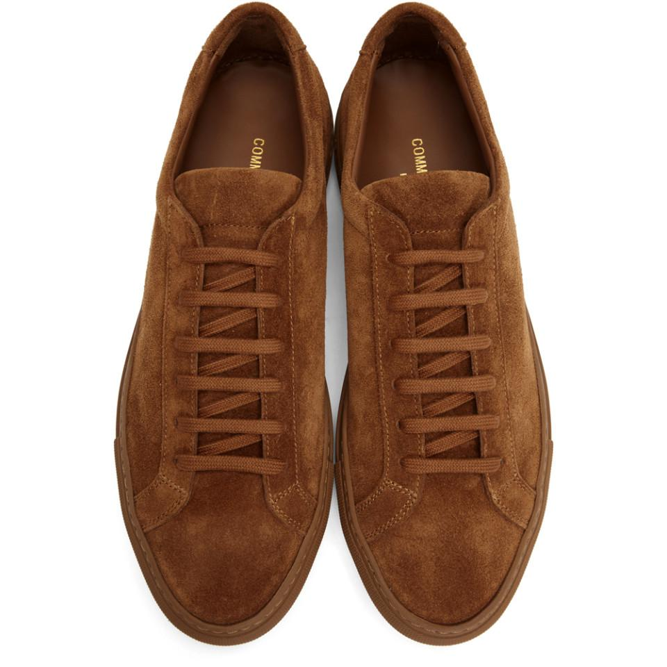 Common Projects Tan Suede Original