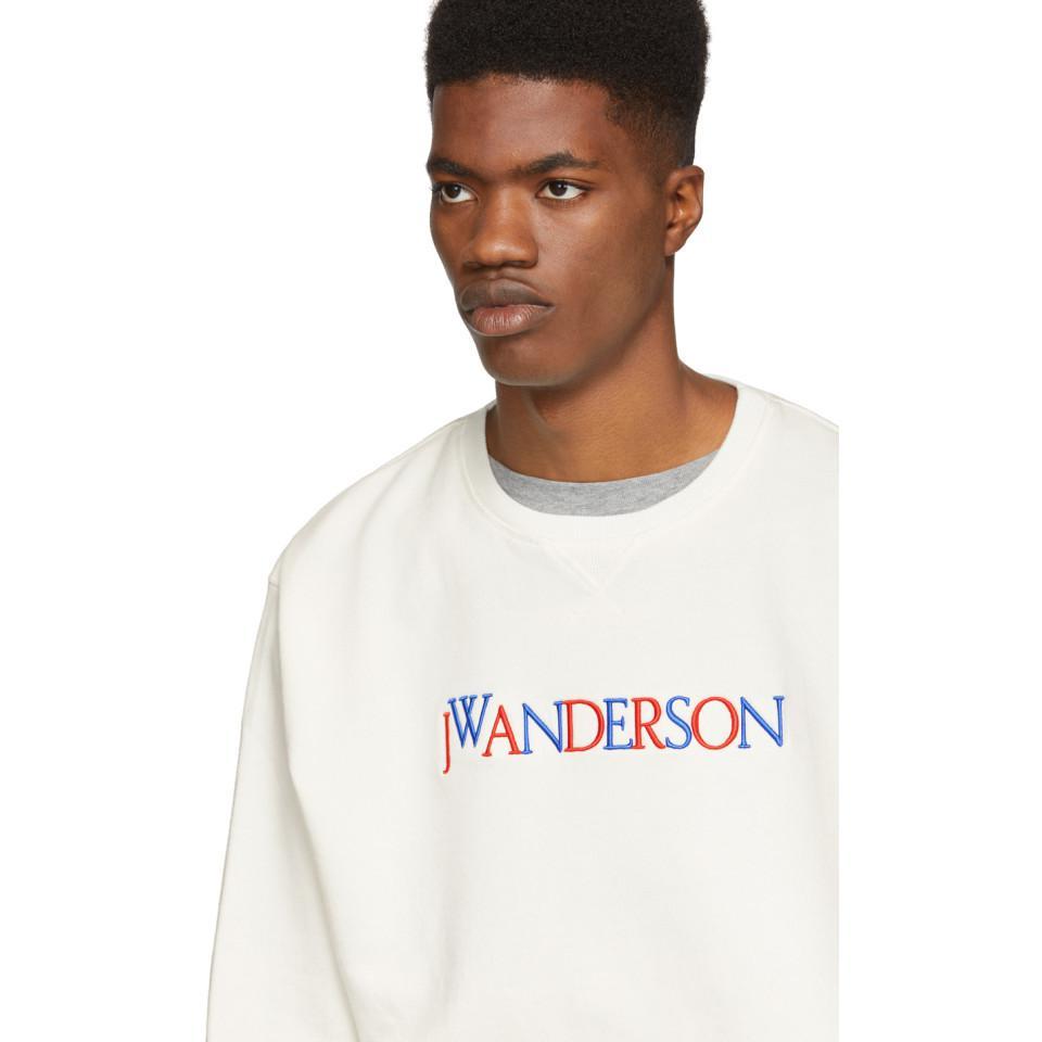 JW Anderson Jwa Logo Sweatshirt in White for Men
