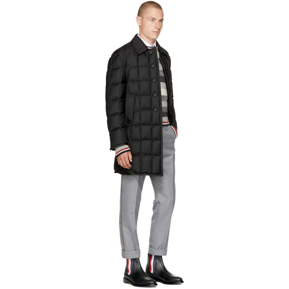Thom Browne Wool Grey Classic Selvedge Backstrap Trousers in Grey for Men