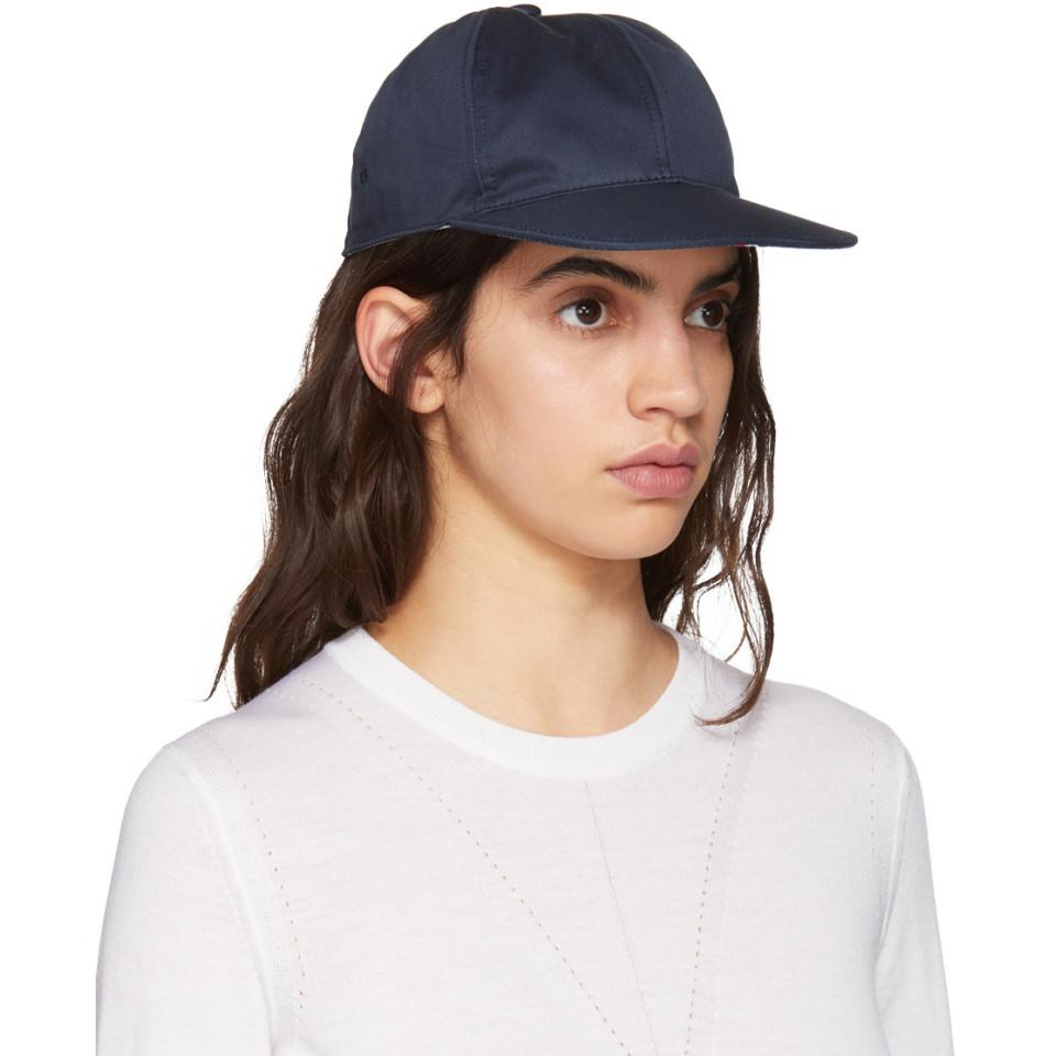 Navy Twill Six-Panel Baseball Cap Thom Browne vtXZFb