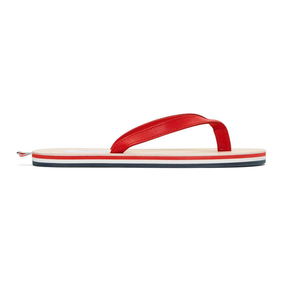 Red Leather Sandals Thom Browne 0IEExIk