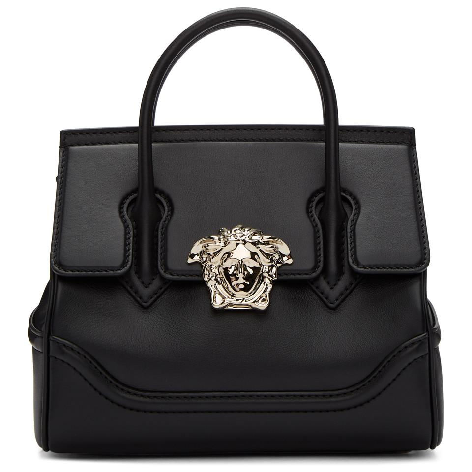 53cf11b5db40 Versace Black Medium Medusa Palazzo Bag in Black - Lyst