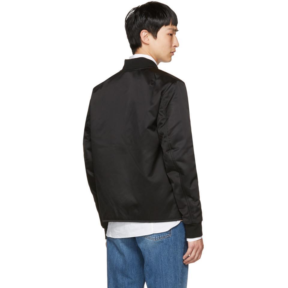 Acne Studios Synthetic Black Mylon Bomber Jacket for Men