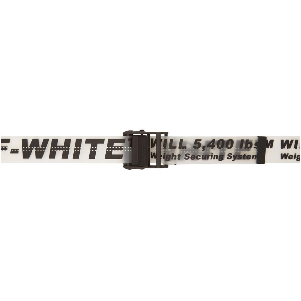 Lyst - Ceinture en caoutchouc noire et transparente Industrial Off ... 8e06fa2e109