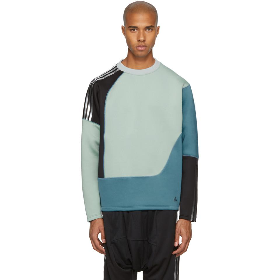 Adidas Originals Blue para Colorblock Spacer 14846 Crew Sweatshirt en azul Sweatshirt para 9a4fd37 - rspr.host